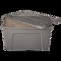 Boîte de rangement avec couvercle en plastique (plusieurs coloris et tailles)-NEW TOP
