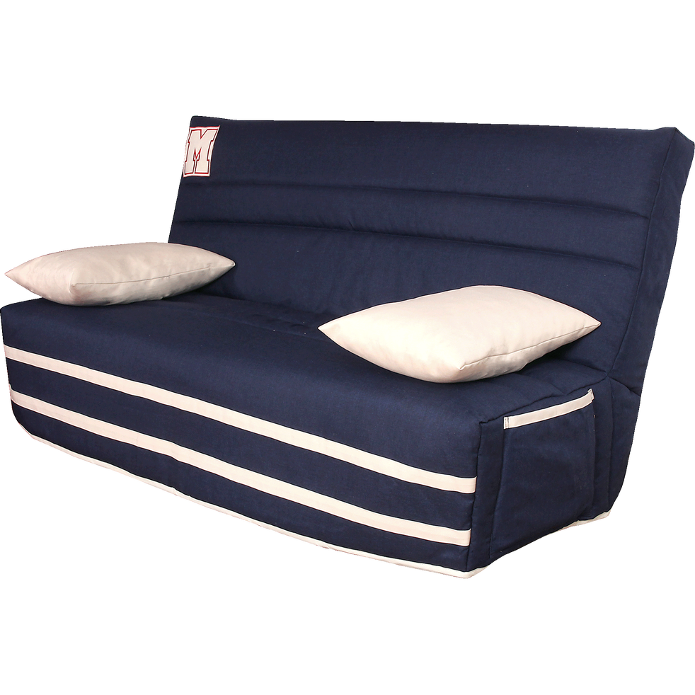 housse pour clic clac 130cm bleu marine avec poche de. Black Bedroom Furniture Sets. Home Design Ideas