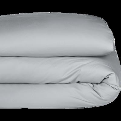 Housse de couette en coton gris borie 260x240cm-CALANQUES