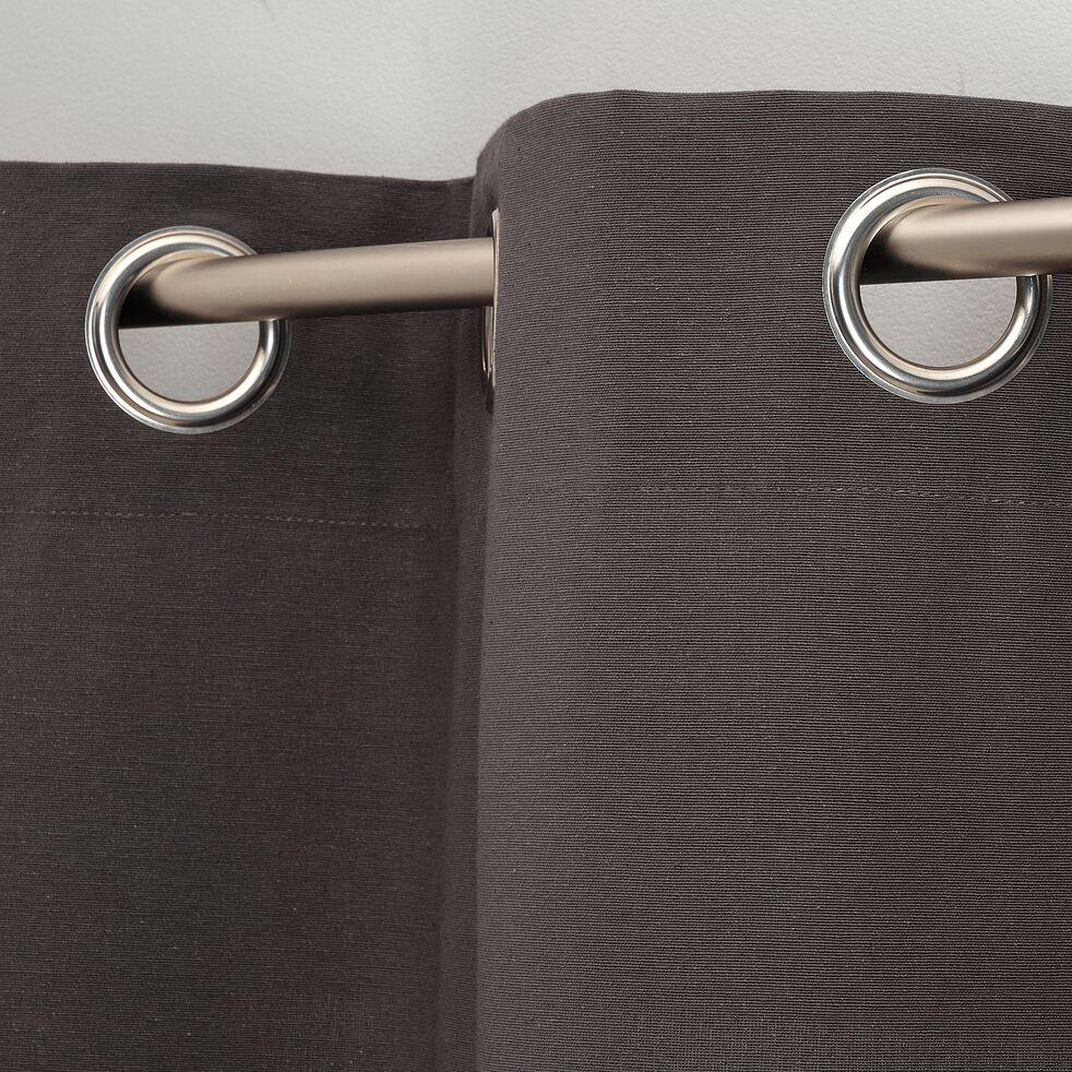 Rideau à œillets en coton - gris ardoise 140x250cm-CALANQUES
