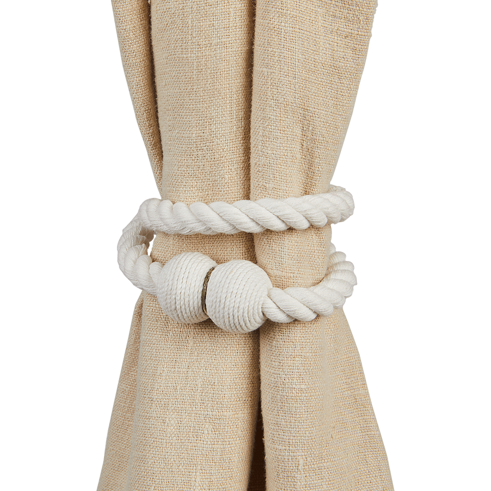 Embrasse magnétique corde en coton blanc-CORDE