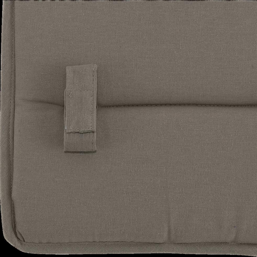Galette de chaise rectangulaire taupe-CERVIONE