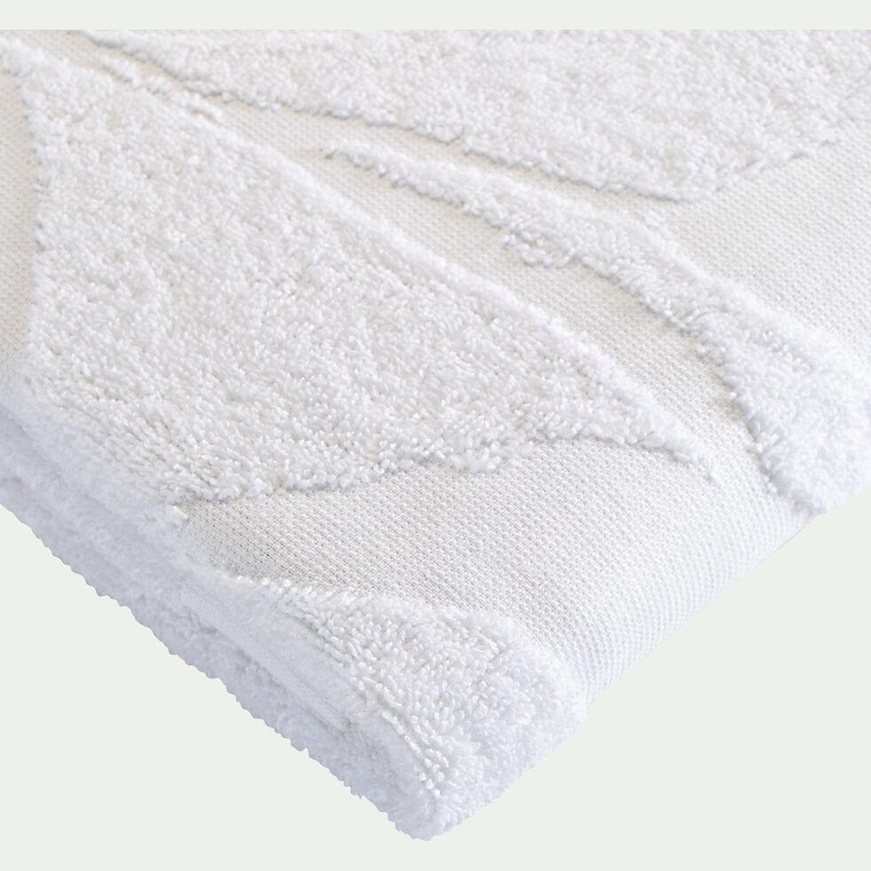 Drap de bain en coton - blanc 100x150cm-Ryad