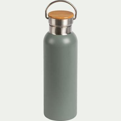 Bouteille en inox - vert cèdre - 0,5L-Coucourdo