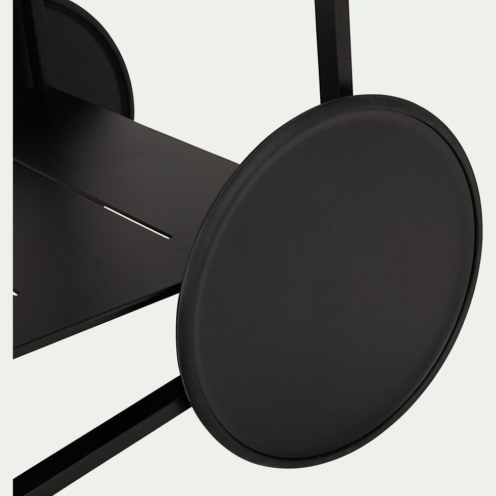 Desserte de cuisine à roulettes en aluminium - noir-DEGUN