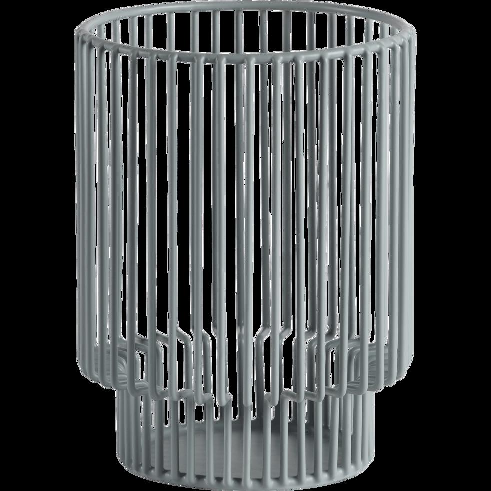 Photophore en métal vert H12cm-Striba