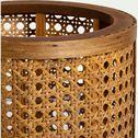 Lanterne cylindrique en bois de pin - naturel H27,5cm-MONA