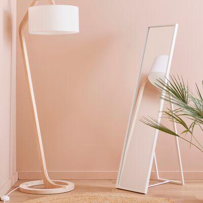 Miroir psyché en bois - blanc H142cm-MILO