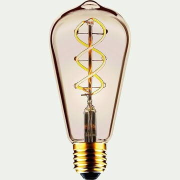 Ampoule LED décorative ambrée H14cm culot E27-POIRE