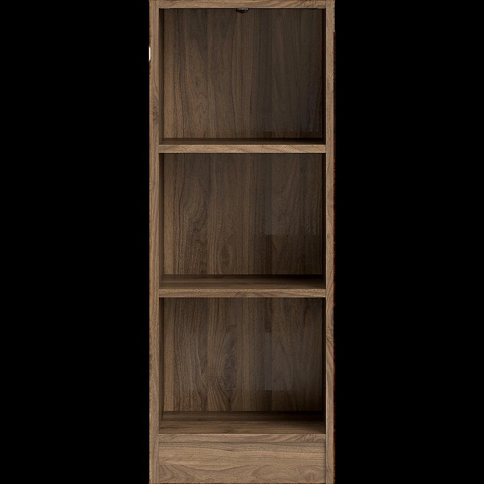 petite biblioth que 3 tablettes coloris noyer l40cm biala rangements composer alinea. Black Bedroom Furniture Sets. Home Design Ideas