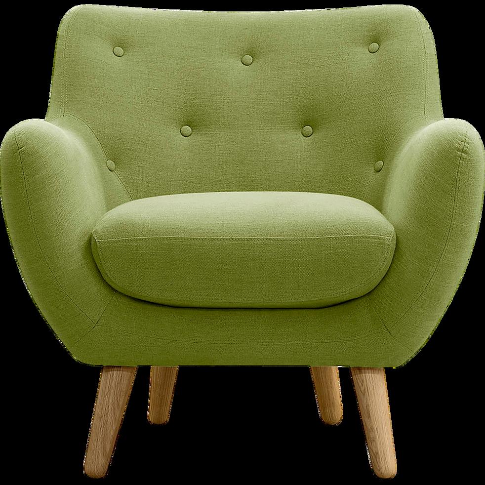 fauteuil en tissu vert olive poppy fauteuils et poufs alinea. Black Bedroom Furniture Sets. Home Design Ideas