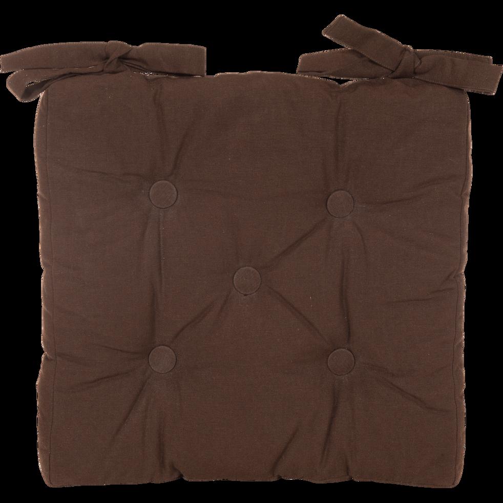 Galette de chaise chocolat 40x40cm-ALMERA