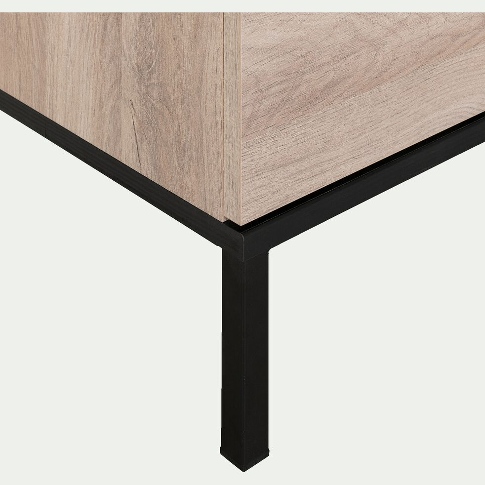 Commode de chambre 4 tiroirs en bois - chêne-CASTEL