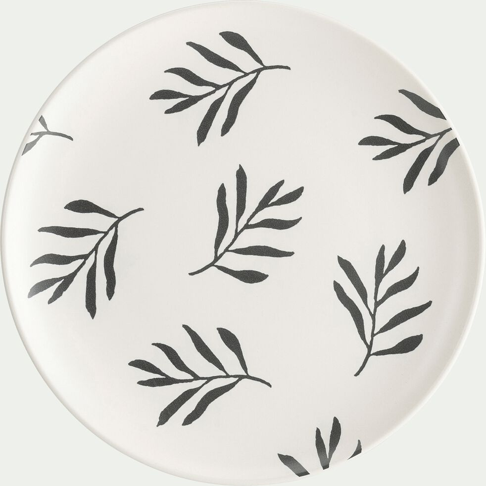 Gamme de vaisselle en faïence - blanc avec motifs-ALOYSE