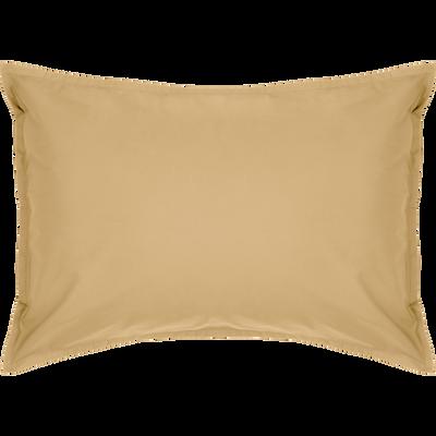 Lot de 2 taies d'oreiller en percale de coton Beige nèfle 50x70cm-FLORE