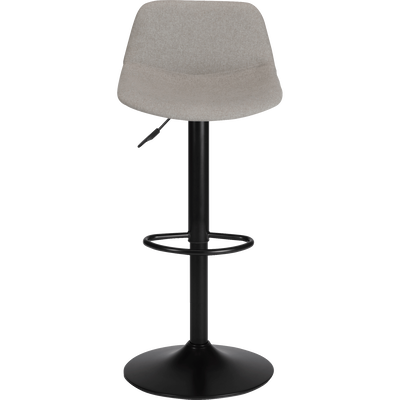 Chaise de bar pivotante en tissu gris - H60cm à 81cm-SENANQUE
