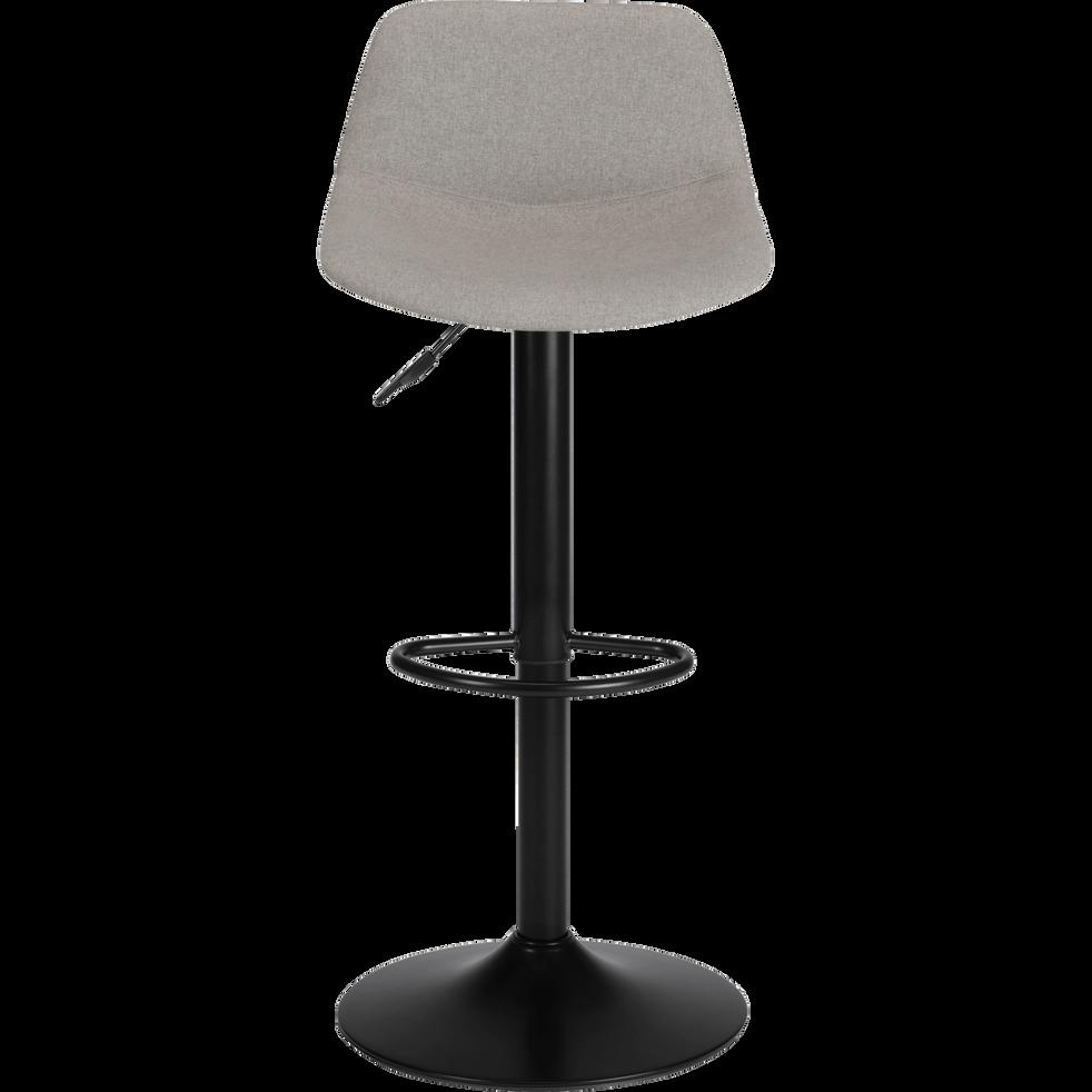 Couleurs variées a5a89 5d41e SENANQUE - Chaise de bar pivotante en tissu gris borie - H60cm à 81cm