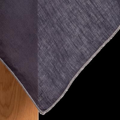 Nappe en lin et coton gris calabrun 170x250cm-MILA