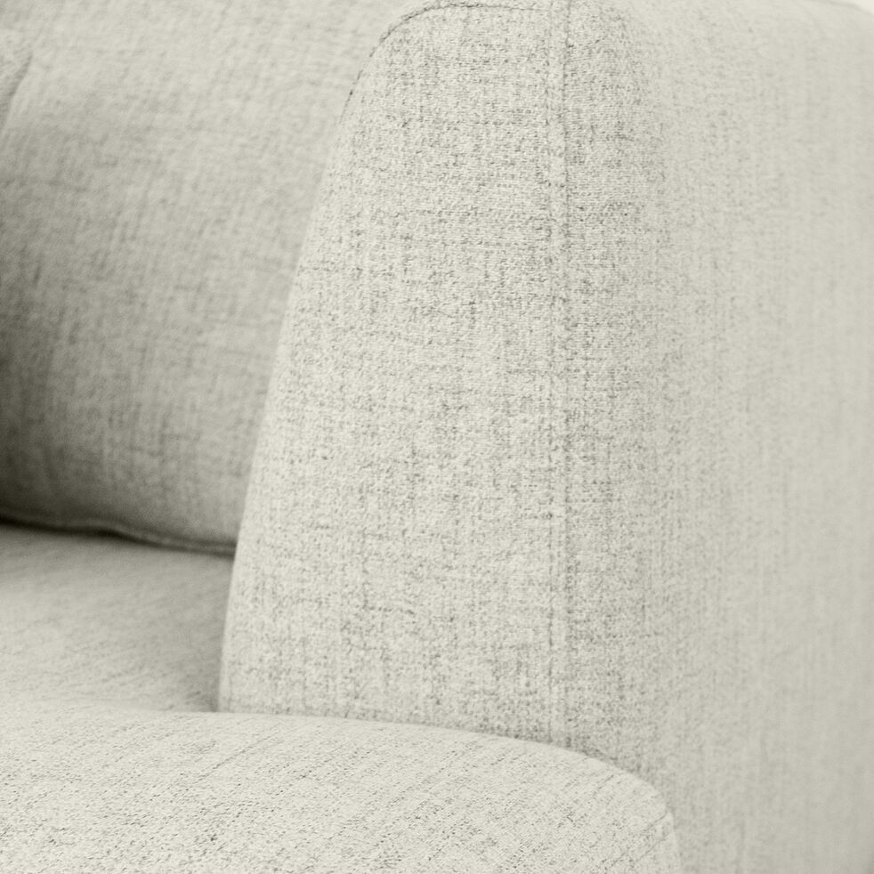 Canapé 5 places fixe droit en tissu - beige roucas-TESSOUN
