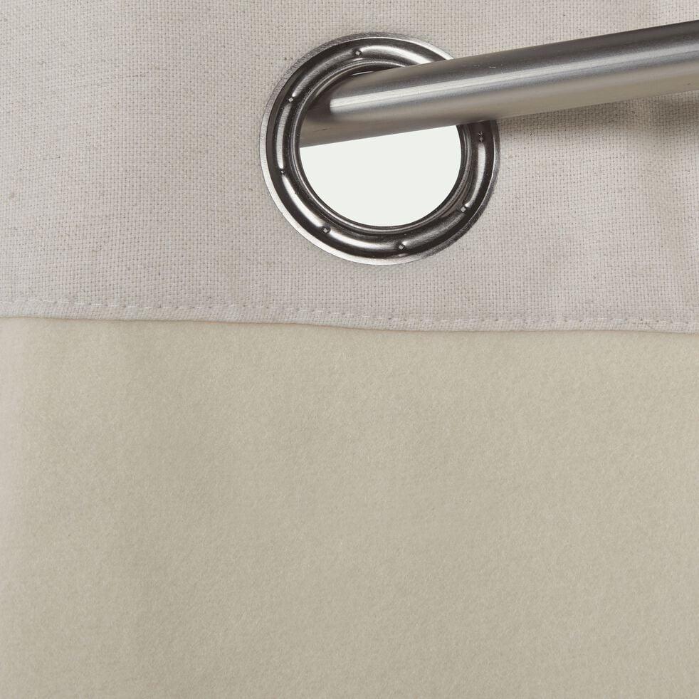 Rideau à œillets en lin et coton - beige roucas 140x300cm-CEZE