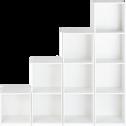 Structure en bois blanc 3 cases H102,5-ZACCHARIE