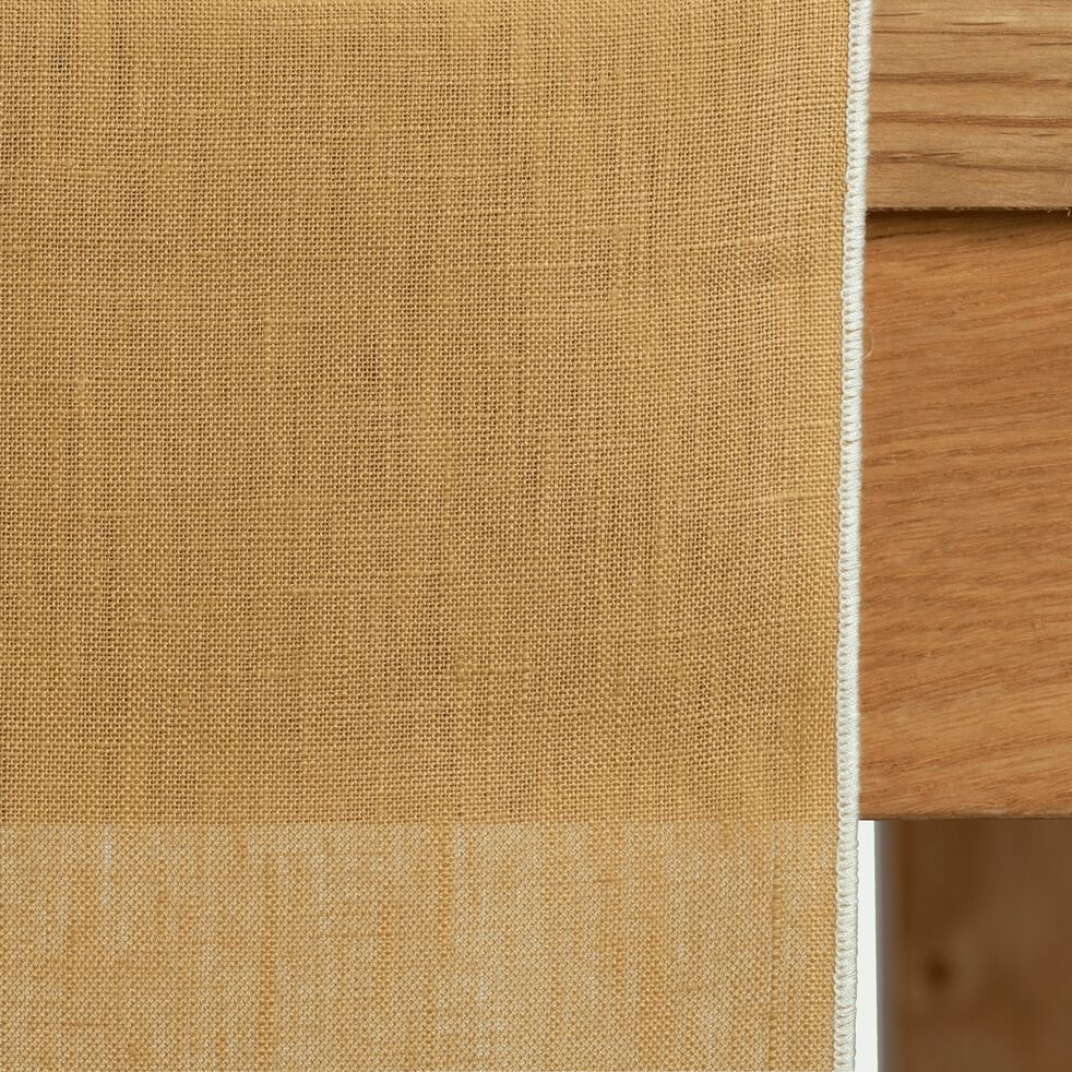 Chemin de table en lin et coton beige nèfle 50x150cm-MILA
