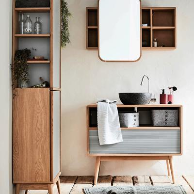 miroir salle de bain grand choix de miroirs lumineux ronds ou bois alinea. Black Bedroom Furniture Sets. Home Design Ideas