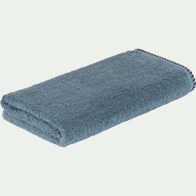 Serviette de toilette en coton - bleu d'autan 50x100cm-Ynes