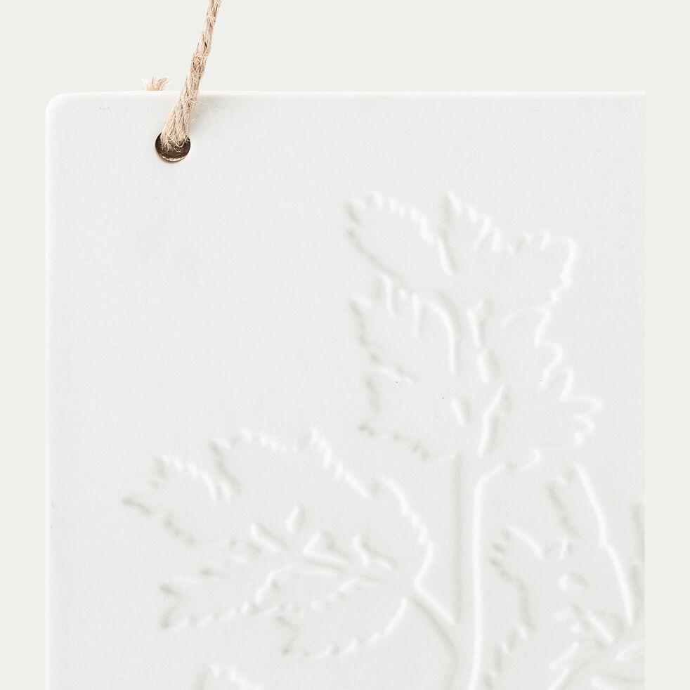Décoration murale célandine - blanc L14,3x19,3Hcm-MARCU