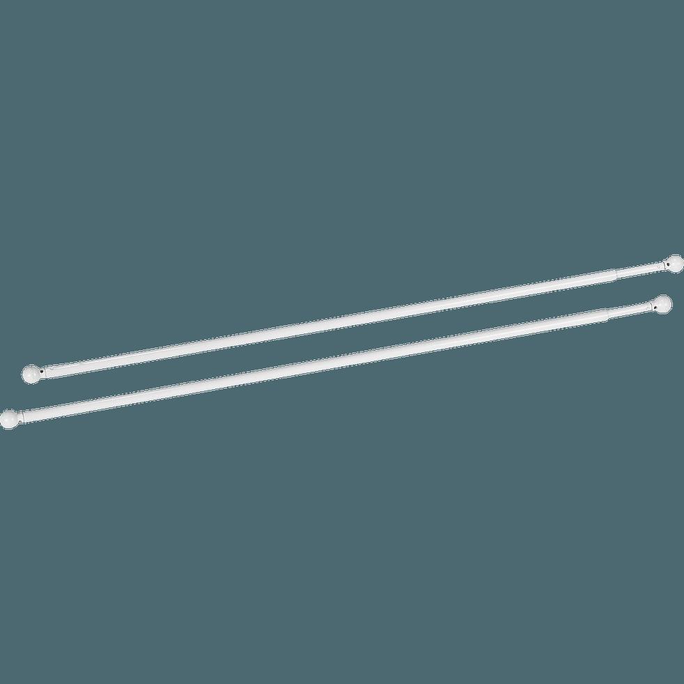 Tringle extensible pour vitrage coloris blanc 80 à 110cm-Simply