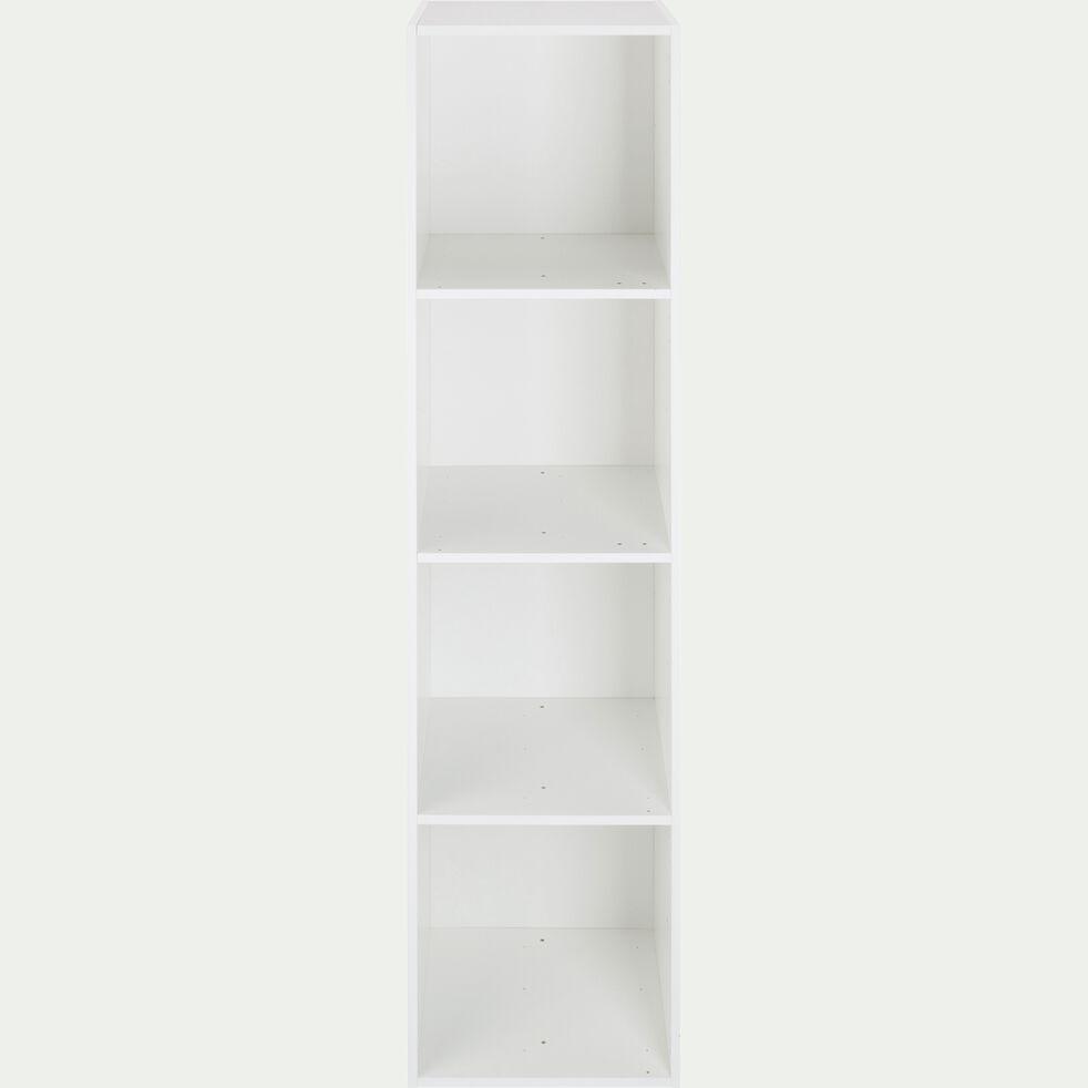 Structure 4 cases en bois H136,4cm - blanc-Zac