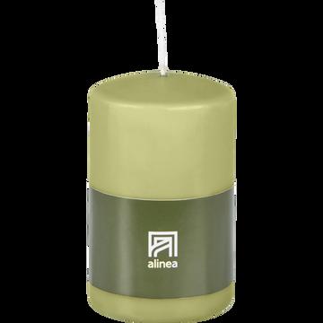 Bougie cylindrique vert garrigue-HALBA