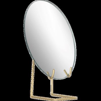 Miroir sur pieds en métal 15x23,5 cm-DALIA