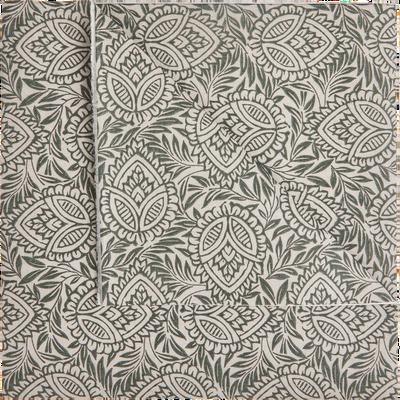 Lot de 20 serviettes intissé à motifs 40x40cm-AMANDE