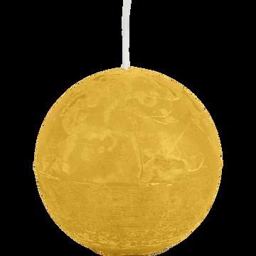 Bougie ronde beige nèfle D10cm-BEJAIA
