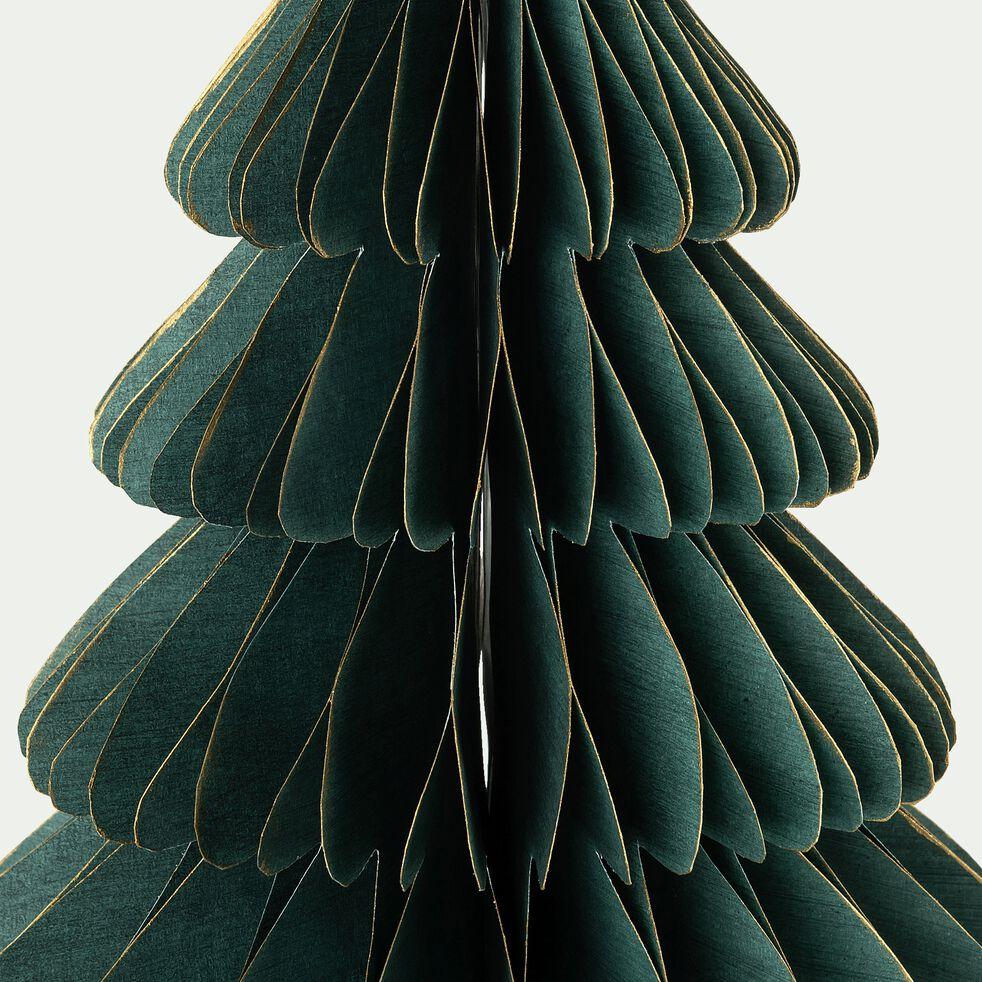 Sapin décoratif en papier - vert H25cm-ALPILLES