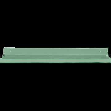 Etagère murale en acier vert olivier L50xl10xH3cm-AGY