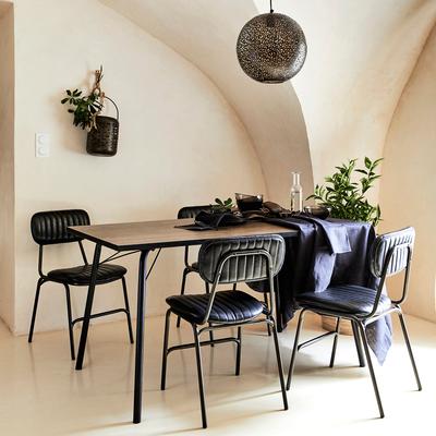 Table de repas rectangulaire vintage - 6 places-DENYS