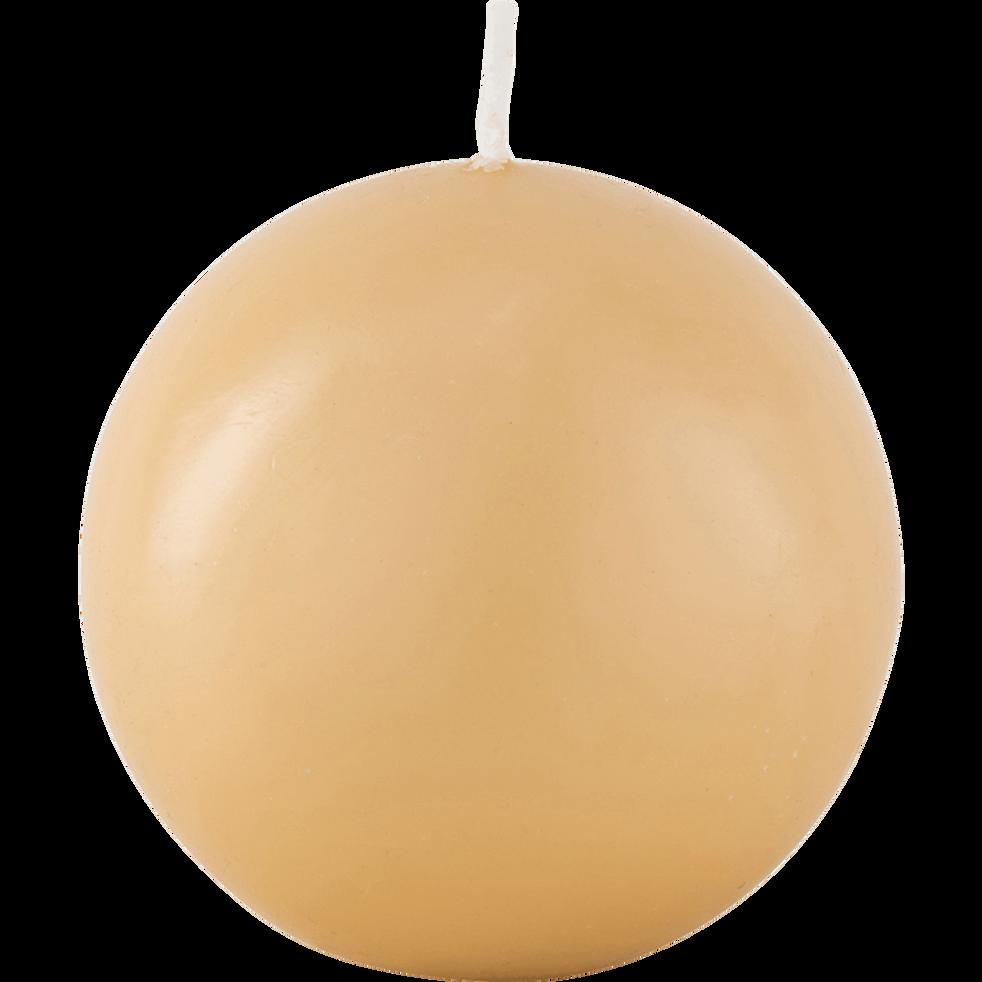 Bougie ronde beige estérel D6cm-HALBA