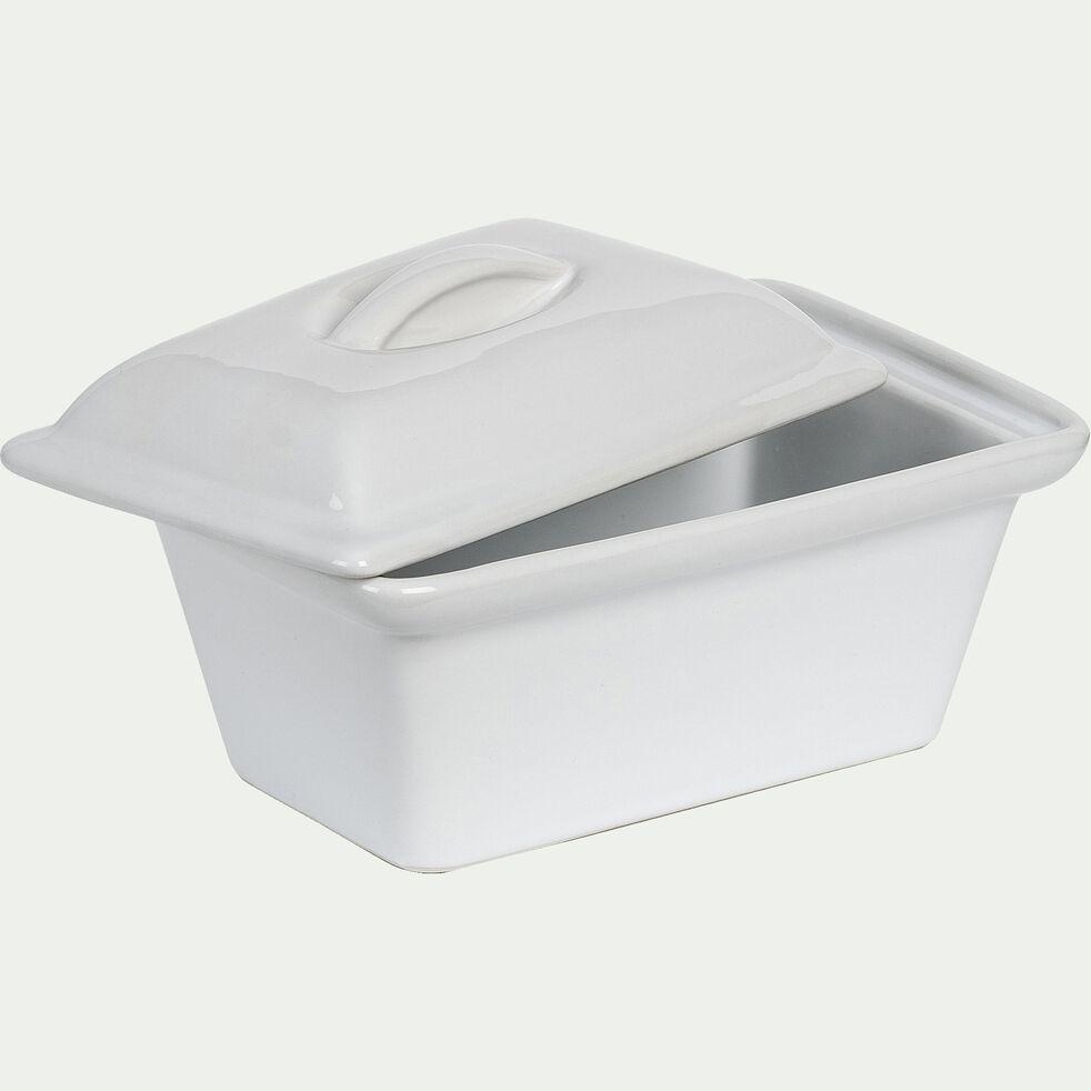 Terrine en grès blanc rectangulaire 16x11cm 0,45CL-REGUE
