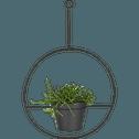 Cache-pot suspendu en métal noir H21xD21cm-EZE