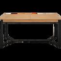 Table de repas extensible plaquée pin - 4 à 8 places-ENDOUME