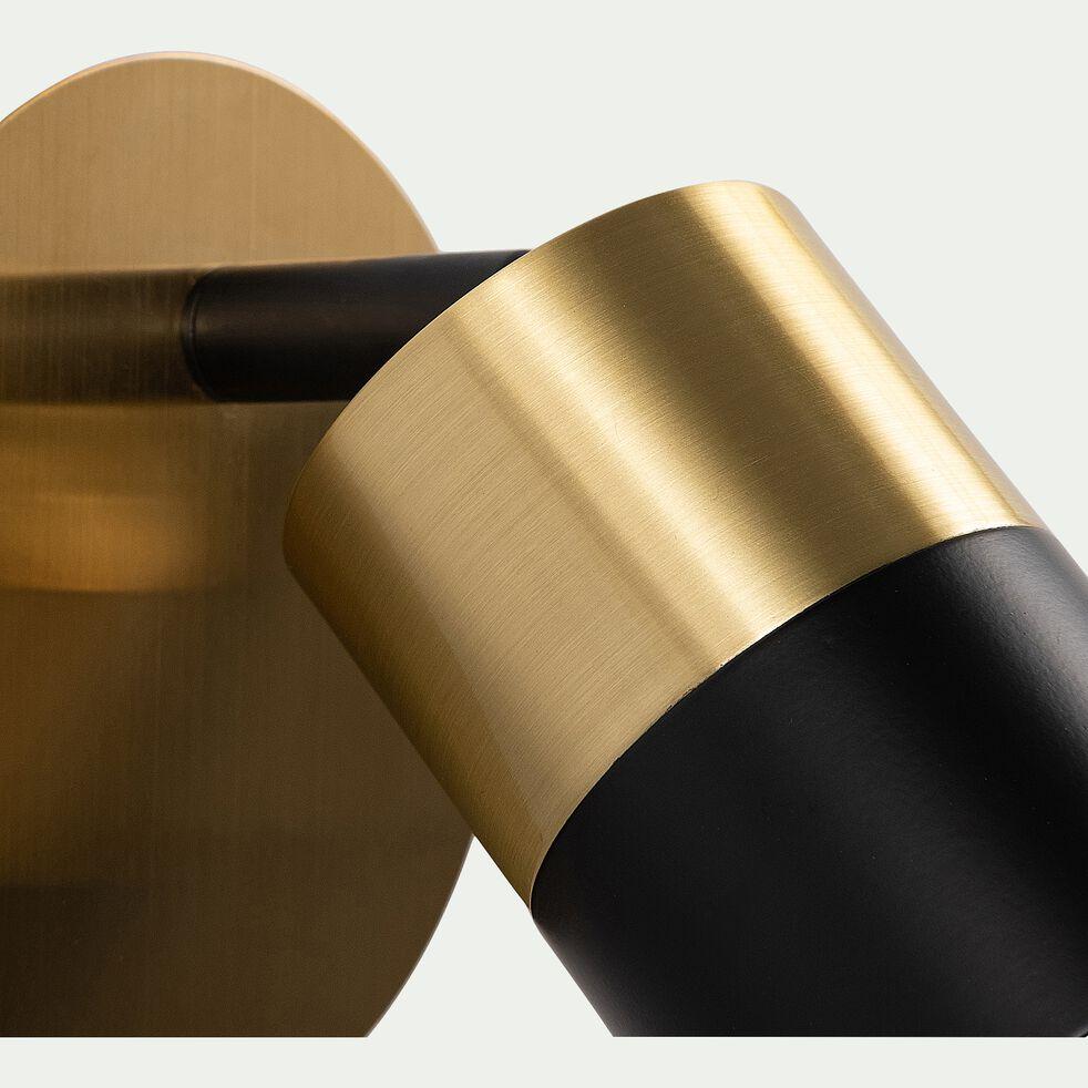 Applique en laiton - noir H14,8xD10cm-MARIBEL