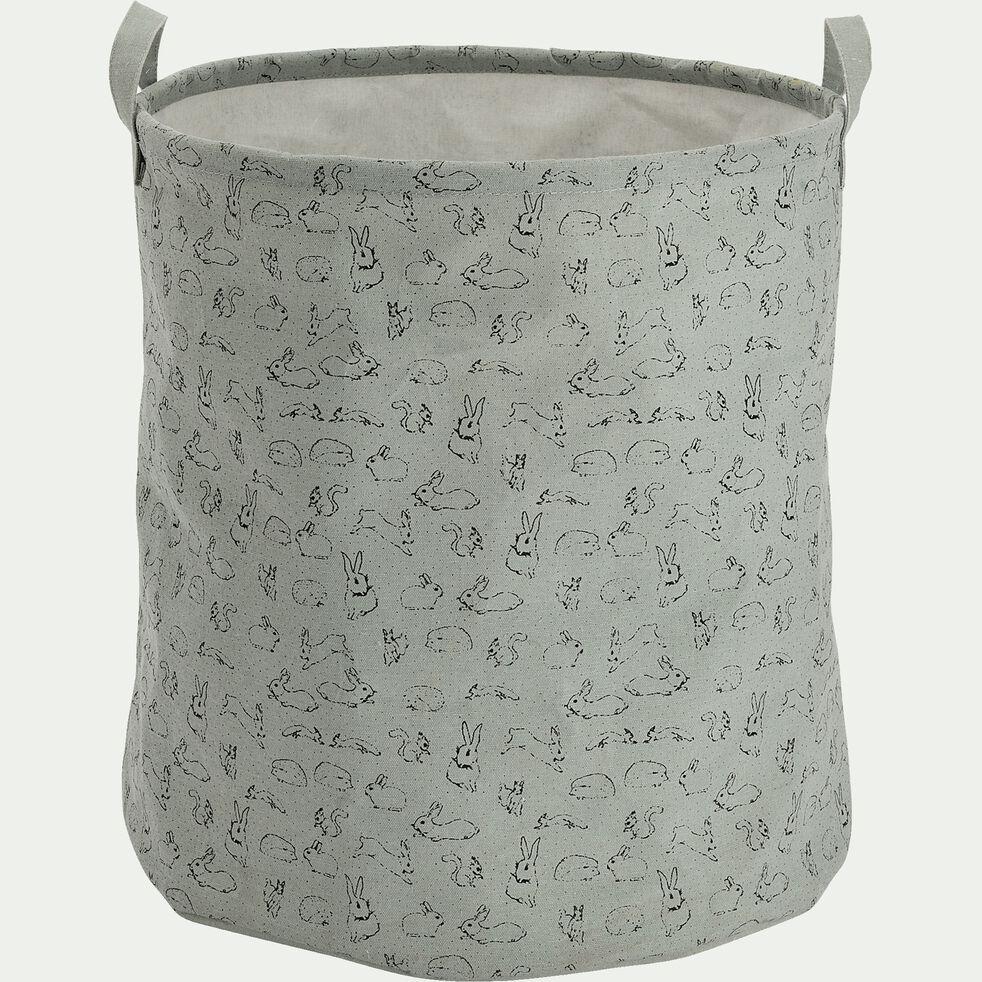 Panier de rangement avec motif - bleu calaluna D40xH40cm-Lony