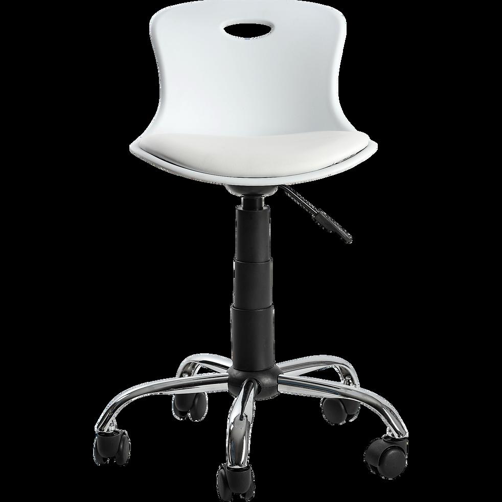 Chaise de bureau enfant blanche-LYLO