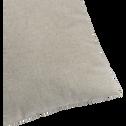 Coussin en polyester gris clair 45x45cm-CORBIN