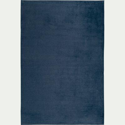 Tapis imitation fourrure bleu figuerolles 100x150cm-ROBIN