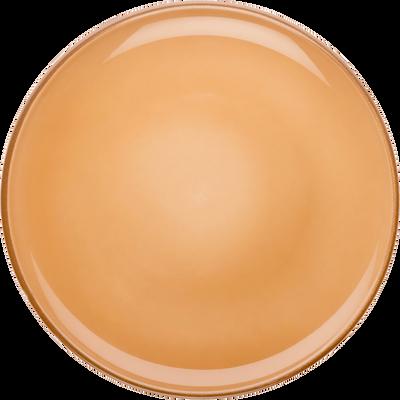 Assiette plate en faïence orange D27cm-LANKA