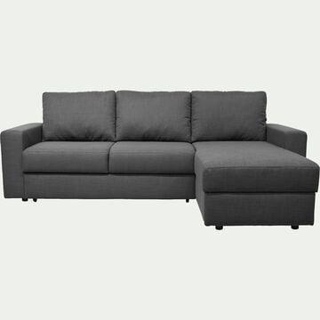 Canapé d'angle réversible convertible en tissu - gris restanque-FERNAND