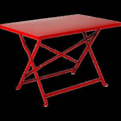 table de jardin pliante rouge L110cm (4 places)-PIMS